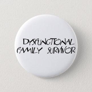 Dysfunktionelle Familie Runder Button 5,7 Cm