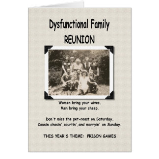Dysfunktionelle Familien-Wiedersehen-Einladung Karte