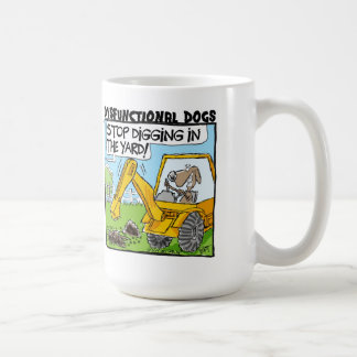 Dysfunktionelle Hunde, die Tasse graben!