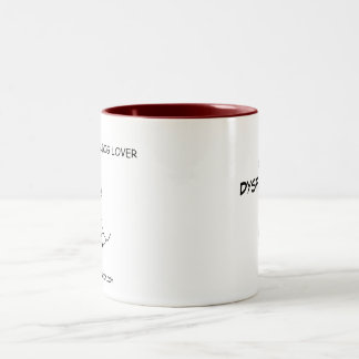 Dysfunktionelle Hundeliebhaber-Tasse Zweifarbige Tasse