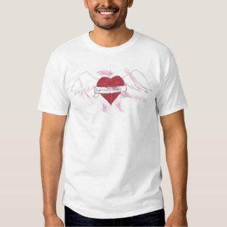 Dysfunktionelle Ruhe, Damen, die Herz fliegen T Shirt