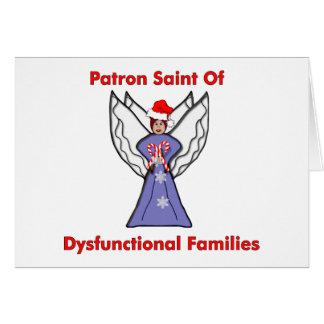 Dysfunktioneller Familien-Engel Karte