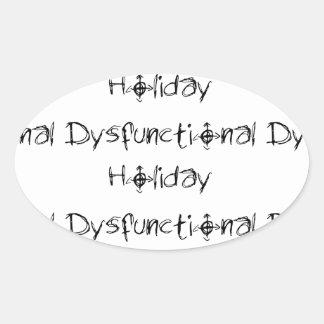 """Dysfunktioneller Feiertags-""""Namen-"""" Aufkleber"""