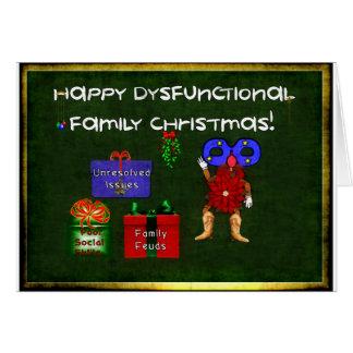 Dysfunktionelles Familien-Weihnachten Grußkarte