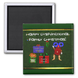 Dysfunktionelles Familien-Weihnachten Quadratischer Magnet