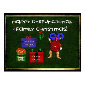 Dysfunktionelles Familien-Weihnachten Postkarte