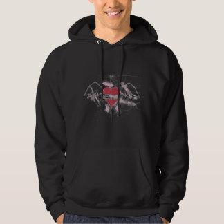 Dysfunktionelles Ruhe-Fliegen-Herz-Sweatshirt Kapuzensweatshirt