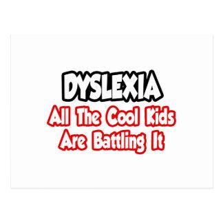 Dyslexie… alle coolen Kinder kämpfen es Postkarte