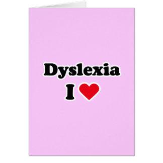 Dyslexie der Liebe I Karte