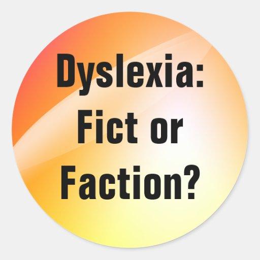 Dyslexie: Fict oder Partei? Aufkleber