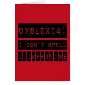 Dyslexie: Ich buchstabiere nicht - ich Karte