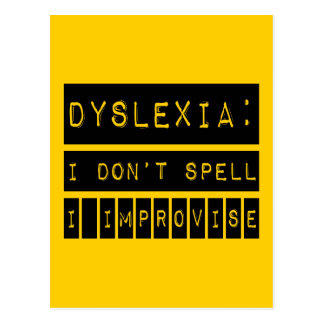 Dyslexie: Ich buchstabiere nicht - ich Postkarte