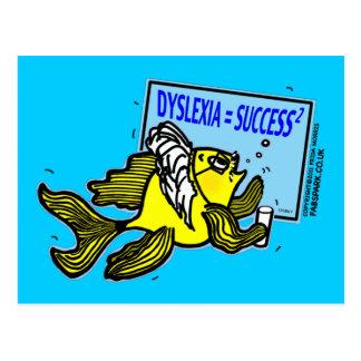 Dyslexie-Lehrer-Fische ~ Persons mit Postkarte