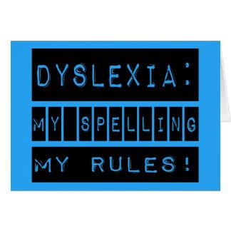 Dyslexie: Meine Rechtschreibung meine Regeln!  Karte