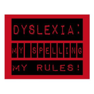 Dyslexie: Meine Rechtschreibung meine Regeln!  Postkarte