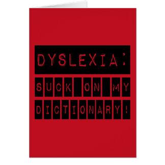 Dyslexie: Sind zum Kotzen Sie auf meinem Karte