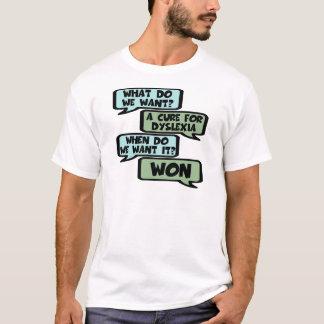 Dyslexieslogan des schlechten Geschmacks T-Shirt