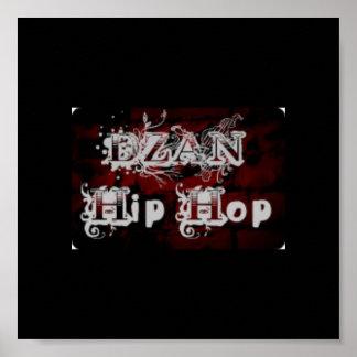Dzan angesagtes Hopfenlogo Poster