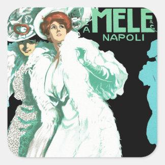 E.A. Melle und Co. ~ Napoli Quadrat-Aufkleber