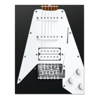 E-Gitarre 10,8 X 14 Cm Einladungskarte