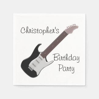 E-Gitarren-Geburtstag Serviette