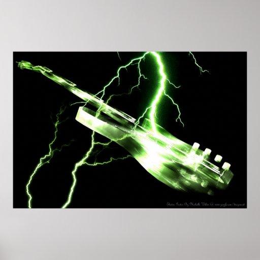 E-GITARREN-Grün Plakatdrucke