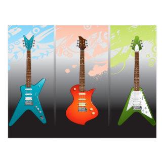 E-Gitarren-Liebhaber-Traum Postkarte