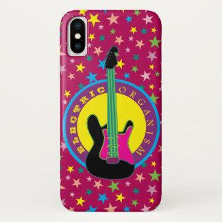 E-Gitarren-Rockmusik-Stern-vibrierende Farben heiß iPhone X Hülle