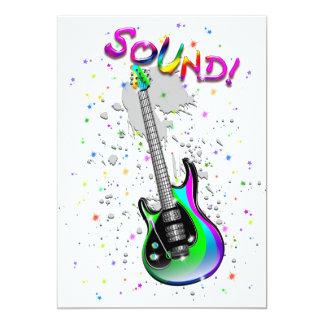 E-Gitarren-solide Farben 12,7 X 17,8 Cm Einladungskarte
