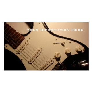 E-Gitarren-Visitenkarte Visitenkarten