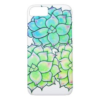 E-grün Farben der Succulents iPhone 8/7 Hülle