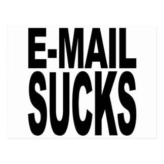 E-Mail ist zum Kotzen Postkarte