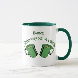 E=mc2 meine 2 Coffe Schalen Tasse