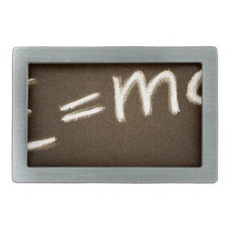 e=mc2… rechteckige gürtelschnalle