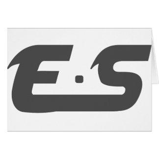 E.S ursprüngliches Smokey Grau Karte