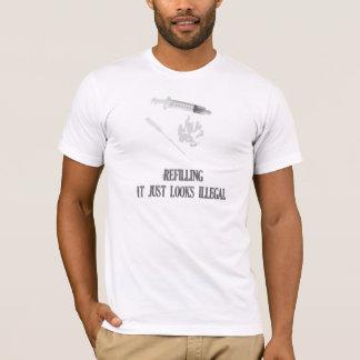E-Zigarette T-Stück:  Wieder füllen, schaut es T-Shirt