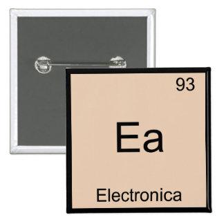 EA - Electronica lustiges Chemie-Element-Symbol T Quadratischer Button 5,1 Cm