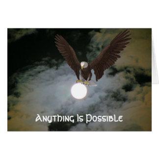 Eagle alles ist mögliche inspirierend Karte