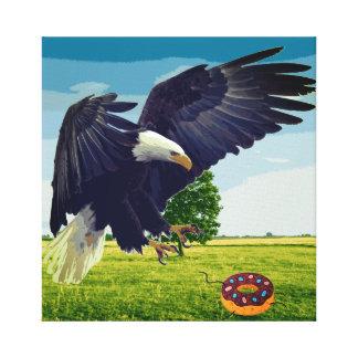 Eagle-Angriffskrapfen Leinwanddruck