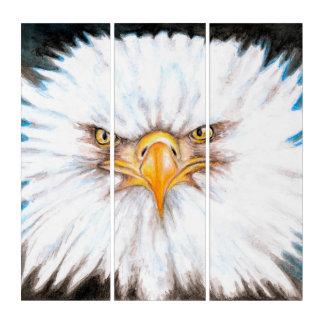 Eagle-Aquarell-Kunst Triptychon