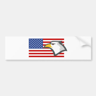 Eagle auf amerikanischer Flagge Autoaufkleber