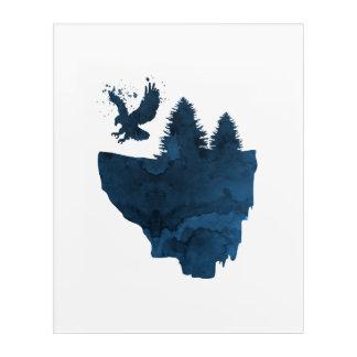 Eagle auf sich hin- und herbewegender Insel Acryl Wandkunst