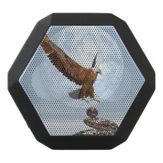 Eagle, das auf ausgeglichenen Steinen landet - 3D Schwarze Bluetooth Lautsprecher