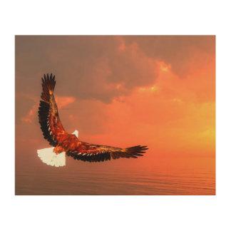 Eagle, das zur Sonne fliegt - 3D übertragen Holzwanddeko