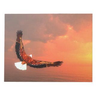 Eagle, das zur Sonne fliegt - 3D übertragen Notizblock