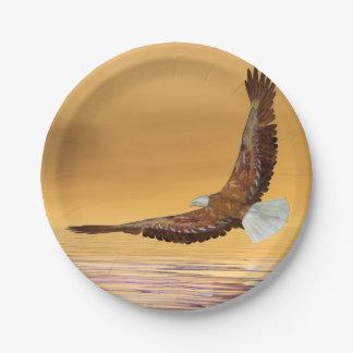 Eagle, das zur Sonne fliegt - 3D übertragen Pappteller