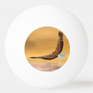 Eagle, das zur Sonne fliegt - 3D übertragen Ping-Pong Ball