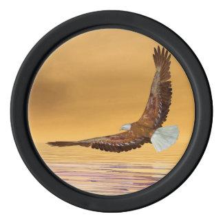 Eagle, das zur Sonne fliegt - 3D übertragen Poker Chips Set
