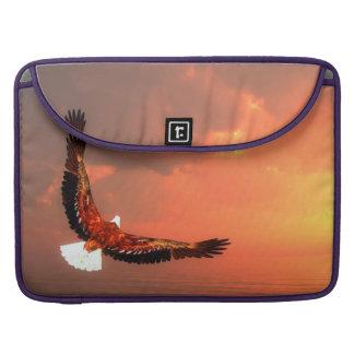 Eagle, das zur Sonne fliegt - 3D übertragen Sleeve Für MacBooks