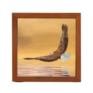 Eagle, das zur Sonne fliegt - 3D übertragen Stifthalter